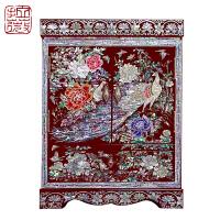 拉薇首饰盒 螺钿漆器首饰柜 镶嵌贝壳 工艺收藏母亲节礼物