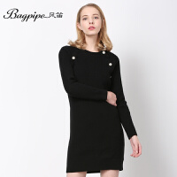 BAGPIPE/风笛2017新款春季女士中长款毛衫女毛衣针织衫羊毛衫