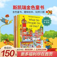 Richard Scarry's Collection斯凯瑞英文原版套装合辑(10册) 轱辘轱辘转 忙忙碌碌镇美国著名的流行儿童作家儿童书界的幽默大师