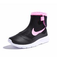 【1件5折】耐克(Nike)女童靴子 新款儿童雪地鞋 加绒保暖棉靴922871-008 黑色/金色