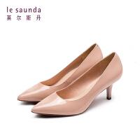 莱尔斯丹 2019单鞋尖头猫跟女职业细跟婚鞋新娘鞋高跟鞋65001