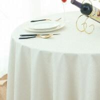 欧式防水桌布免洗酒店饭店餐厅家用圆形大圆桌餐桌布台布布艺