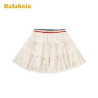巴拉巴拉女童半身裙公主裙春季2020新款儿童短裙洋气小童宝宝纱裙