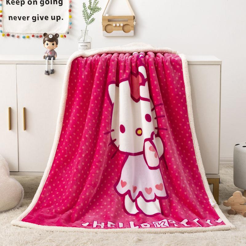 儿童盖毯珊瑚绒AB双面羊羔绒双层小毛毯宝宝午睡空调儿童毯子加厚 秋英家纺。温润如玉
