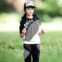 童话元素青少年女装春装13-15岁大童女装套装12女童运动套装14春秋女孩 黑色
