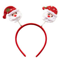 圣诞头饰 圣诞发箍发卡圣诞节雪人老人麋鹿头箍儿童鹿角发饰头饰发夹女 2#圣诞鹿2