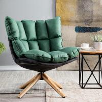 单人旋转沙发休闲懒人椅椅客厅书房卧室舒适布绒布艺椅舒适电脑椅