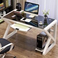 游戏电脑桌台式家用简约单人办公桌子网吧竞技桌炫酷电竞游戏桌椅