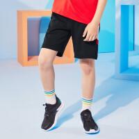 【夏清仓抢购价:49】361度男童2021夏季 中大童 童装休闲针织五分裤K52023503