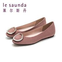 【顺丰包邮,大牌价:399】莱尔斯丹 春夏新款商场同款金属扣平跟浅口单鞋9T06902