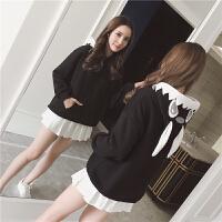 可爱卫衣女秋冬韩版萌系兔耳朵连帽加绒加厚保暖学生长袖外套上衣
