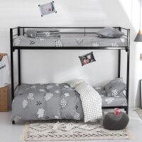 棉学生宿舍床单三件套纯棉床笠被套寝室儿童床上用品套件