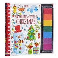 【中商原版】圣诞主题手指印画活动书 英文原版 Christmas 创意绘画DIY