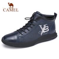 camel骆驼男鞋 秋季新款潮流休闲皮鞋真皮休闲鞋百搭男士英伦板鞋