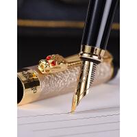 正品英雄6006龙头铱金钢笔明尖弯头美工笔刻字练字绘画书法礼盒装