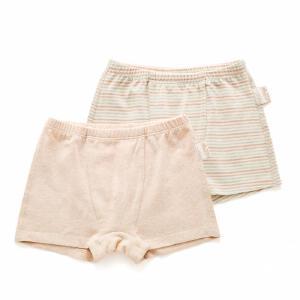 欧孕宝宝内裤2条装女男1-3岁婴儿彩棉儿童内裤平角裤三角小孩