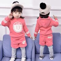 宝宝装套装加绒加厚2017新款韩版潮3-4岁5女童洋气卫衣两件套潮 加绒印11款