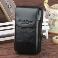 男士腰包手机包牛皮腰包时尚手机包韩版休闲4.5寸手机套穿皮带腰包