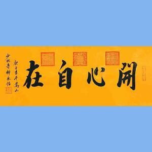 第九十十一十二届全国人大代表,中国佛教协会第十届理事会副会长,少林寺方丈释永信(开心自在)