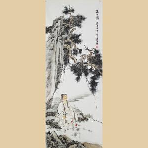 国画《高士图》中国美院刘恩泰先生1.8米大尺寸精品力作