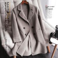 羊毛双面呢大衣女修身中长款2018年秋冬新款显瘦羊绒外套韩版反季