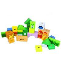 【当当自营】木玩世家 缤纷动物串珠 穿线玩具木制儿童益智玩具 Q2601