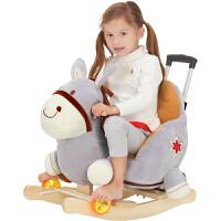 宝宝摇椅马音乐摇马两用大号儿童玩具周岁礼物小木马车婴幼儿玩具