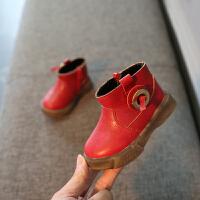 季宝宝棉鞋女1-3岁男短靴马丁靴小童保暖加绒雪地靴婴儿学步鞋2