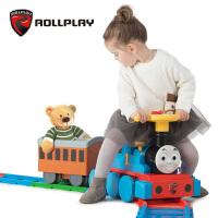 rollplay如雷儿童电动车托马斯小火车可坐人带轨道电动玩具