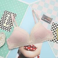 舒�m女士�o痕薄款�o�圈蕾�z性感文胸�纫卵�套�b 棉�|胸罩 1.粉色 ��