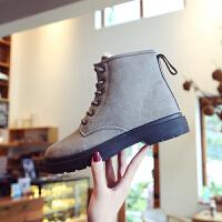 2018冬季新款韩版雪地靴女马丁靴学生加绒保暖棉鞋防滑短靴女靴子