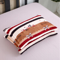 【官方旗舰店】冬季珊瑚绒法兰绒枕套一对装单人冬季保暖加厚双枕头套4874cm 48cmX74cm