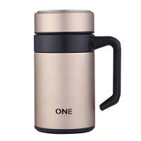 光一304不锈钢保温杯男士大容量办公室水杯家用带手柄把手泡茶杯子女
