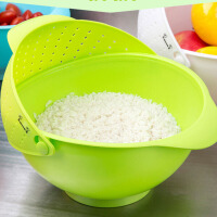 红兔子(HONGTUZI) 多功能洗米筛可移动滤罩淘米器 塑料果蔬篮洗菜篮沥水篮果滤水蔬