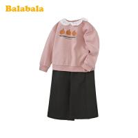 【3件4.5折:72】巴拉巴拉女童春季新款洋气2020 套装儿童衣服小童宝宝卫衣阔腿裤