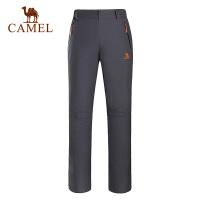 camel骆驼户外冲锋裤 女款防风保暖冲锋长裤