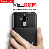 Spigen华为mate9手机壳软硅胶手机保护套碳纤维纹防摔外壳大潮牌