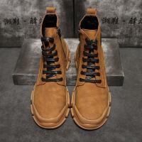金牛骑士时尚侧拉链纯色减震松糕鞋休闲透气耐磨防滑中帮单鞋