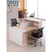 简约现代办公家具2人工作位 员工职员办公桌4人屏风卡位桌 含椅
