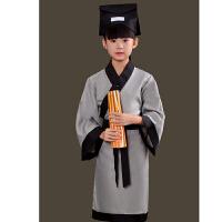 弟子规演出服儿童古装汉服男女童孔子国学服装游子吟三字经表演服