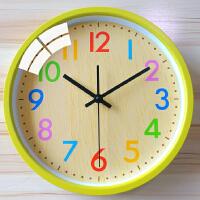 挂钟客厅个性简约钟家用时钟创意挂表圆形卡通家用时钟