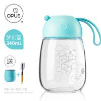opus玻璃水杯女学生韩版创意潮流杯子便携韩国可爱茶杯果汁杯子