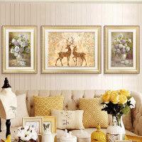 沙发背景墙装饰画现代简约墙画欧式客厅三联画壁画大气挂画