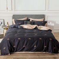 北欧风棉被套四件套纯棉床笠被罩单人床单三件套床上用品