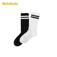 巴拉巴拉儿童袜子春季新款中筒袜保暖短袜男女童棉袜两双装中大童