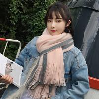 围巾女秋冬季ins韩版加厚可爱少女士男学生情侣冬天围脖长款围巾