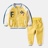 男童运动套装3儿童休闲2岁女童春款4婴儿两件套5童装衣服宝宝春装 亮黄