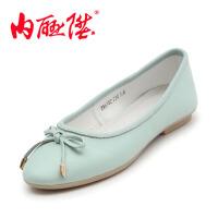 内联升 女鞋布鞋牛皮 皮鞋 小清新 休闲船鞋时尚休闲老北京布鞋 JW6302