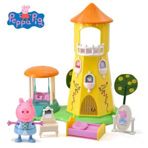 小猪佩奇peppapig粉红猪小妹佩佩猪儿童过家家玩具玫瑰园魔塔
