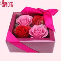 萌味 香皂花 玫瑰花束仿真鲜花生日礼物礼品送女友老婆创意礼品实用永生花礼盒套装520礼物